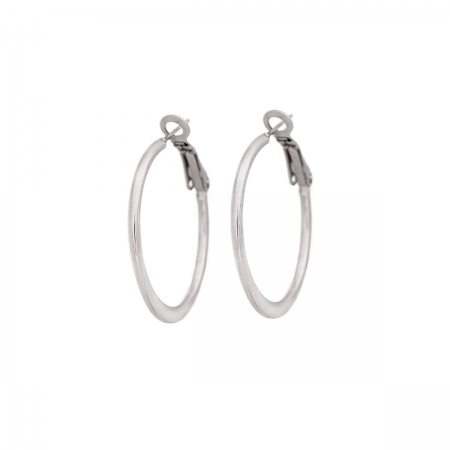 Simply Stylish Silver Tone Hoop Earrings