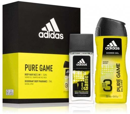 Adidas Pure Game Eau de Toilette 50ml Combo: Edt 50 Ml + Deodorant 75 Ml