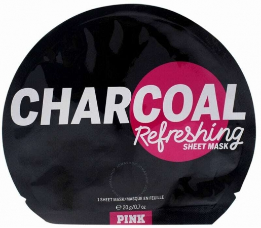 Pink Charcoal Refreshing Sheet Mask Face Mask 1pc (For All Ages)