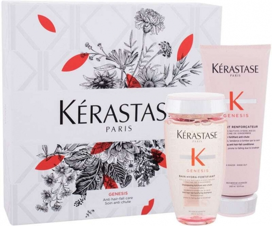 Kérastase Genesis Shampoo 250ml Combo: Genesis Bain Hydra-Fortifiant Anti Hair-Fall Fortifying Shampoo 250 Ml + Genesis Fortifying Anti Hair-Fall Conditioner 200 Ml (Anti Hair Loss)