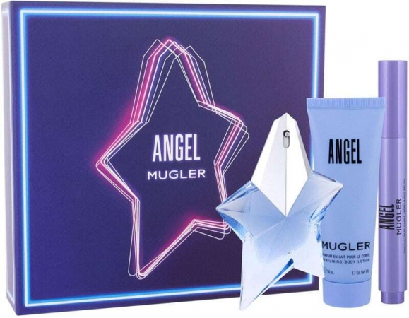 Thierry Mugler Angel Eau de Parfum 25ml Combo: Edp 25 Ml + Edp-Brush 7 Ml + Body Lotion 50 Ml