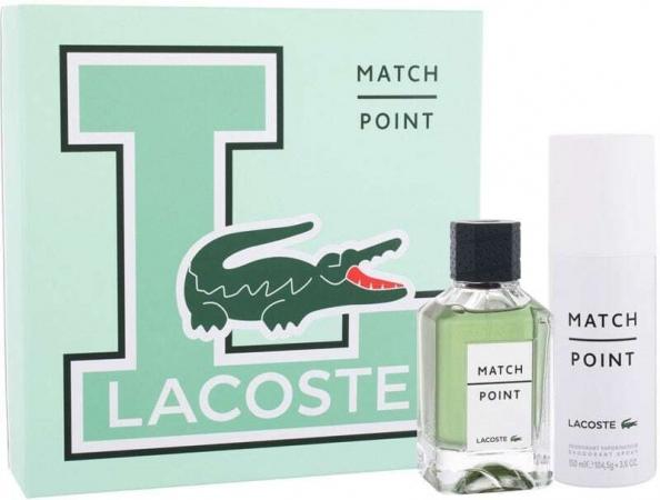 Lacoste Match Point Eau de Toilette 100ml Combo: Edt 100 Ml + Deodorant 150 Ml