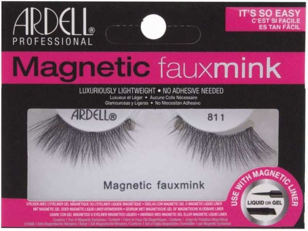 Ardell Magnetic Faux Mink 811 False Eyelashes Black 1pc