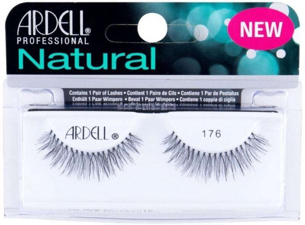 Ardell Natural 176 False Eyelashes Black 1pc