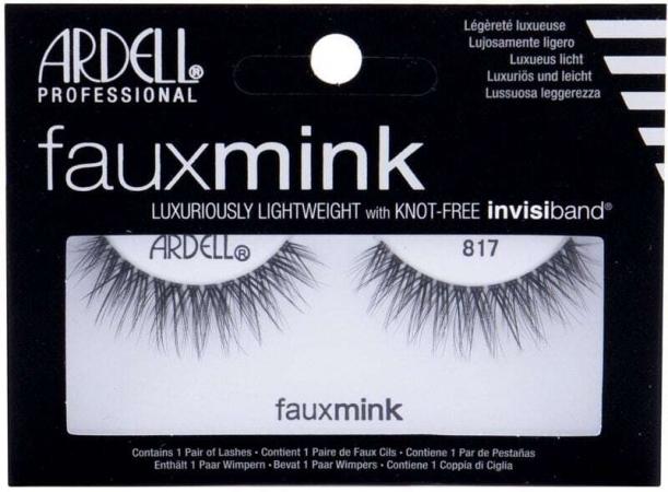 Ardell Faux Mink 817 False Eyelashes Black 1pc