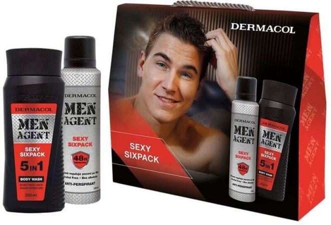 Dermacol Men Agent Sexy Sixpack 5in1 Shower Gel 250ml Combo: Shower Gel 5in1 + Antiperspirant 150 Ml Damaged Box