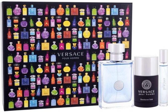 Versace Pour Homme Eau de Toilette 100ml Combo: Edt 100 Ml + Edt 10 Ml + Deostick 75 Ml