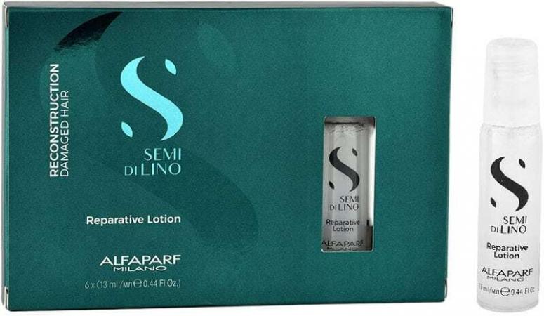 Alfaparf Milano Semi Di Lino Reconstruction Reparative Lotion Hair Serum 6x13ml (Damaged Hair)