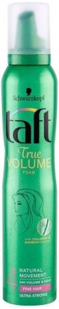 Schwarzkopf Taft True Volume Hair Mousse 200ml (Strong Fixation)