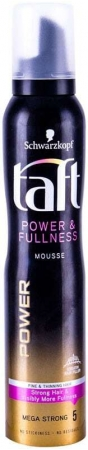 Schwarzkopf Taft Power & Fullness Hair Mousse 200ml (Extra Strong Fixation)